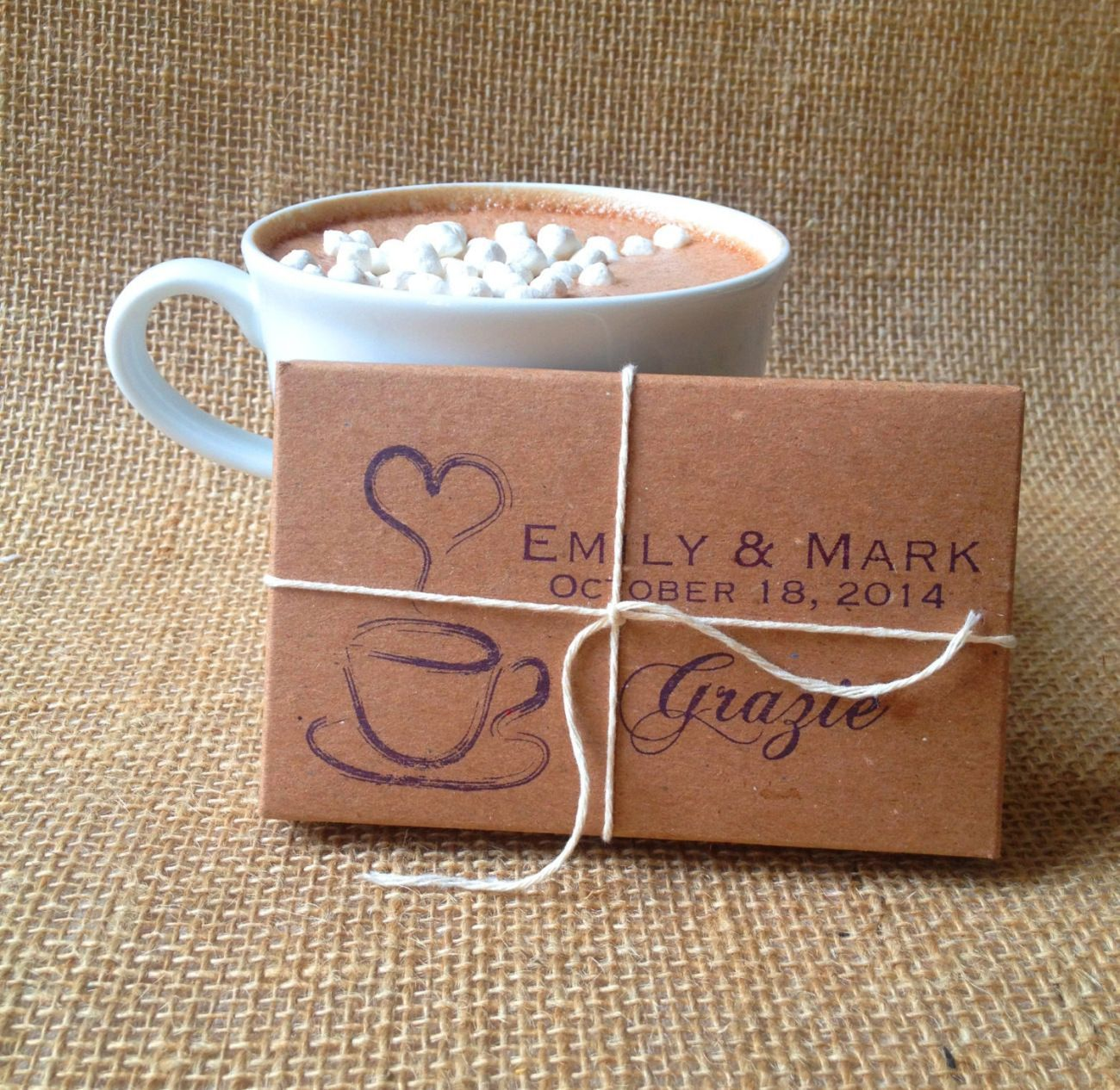 Hot Chocolate Packages Winter Wedding Favors Wedding Favors Cheap