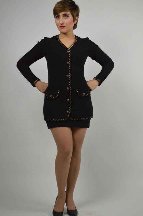 Vintage Betsy Johnson 90s Betsy Johnson Black by BuffaloGalVintage - black skirt halloween costume ideas