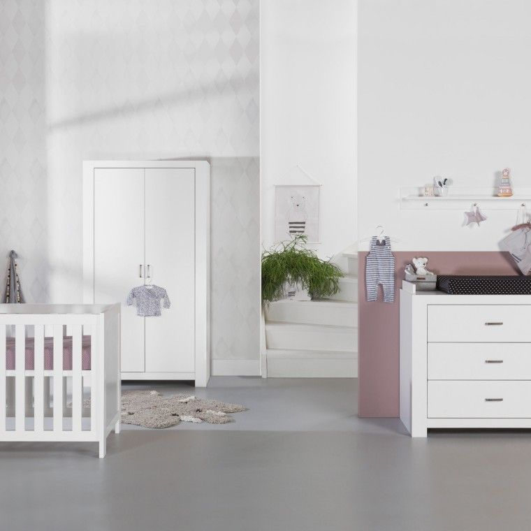 Babykamer Bateau Wit.Basicline Monza Babykamer Wit Bed 60 X 120 Cm Commode