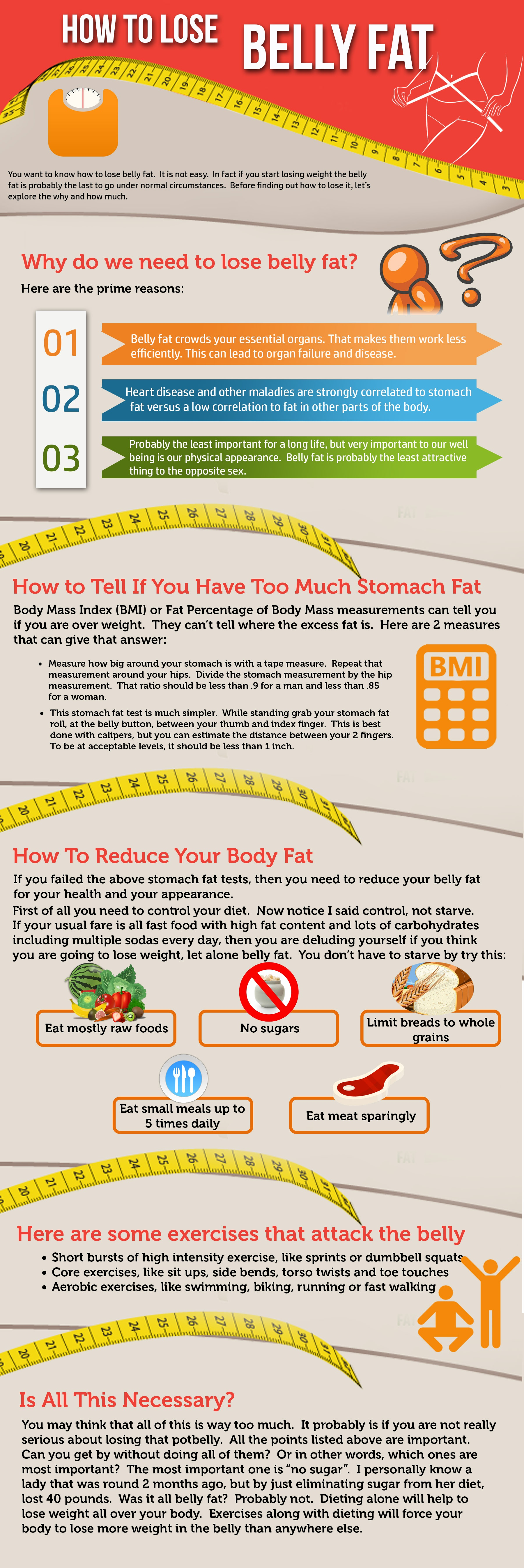 How and why you should lose your belly fat.