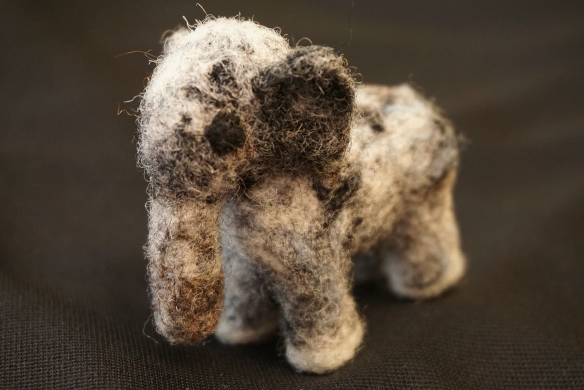 Needle Felted Elephant  https://www.etsy.com/shop/FeltingOutsideTheBox?ref=hdr_shop_menu