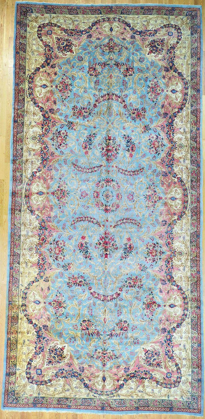 "Kerman Persian Rug - 9' 9"" x 20' 9"" - #kerman #kirman #kermanshah #antiquecarpet #antiquecarpets #antiquerug #antiquerugs #carpets #handknotted #handknottedrug #handmade #iran #iranianrug #oldcarpet #orientalcarpet #orientalcarpets #orientalrug #orientalrugs #persiancarpet #persiancarpets #persianrug"