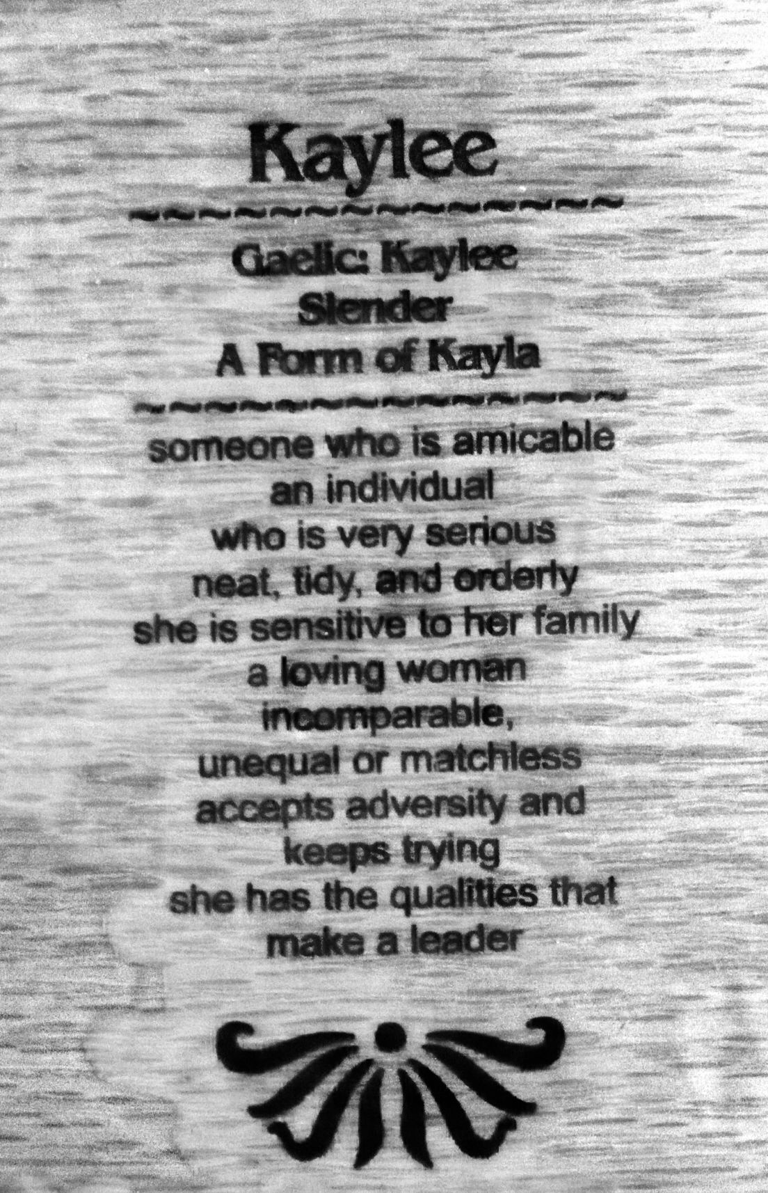 Kaylee-meaning amazing how the name really does fit | ♡ My ... - photo#35