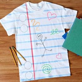 iLovetoCreate Classroom Doodles T-Shirt - instructions from AC Moore