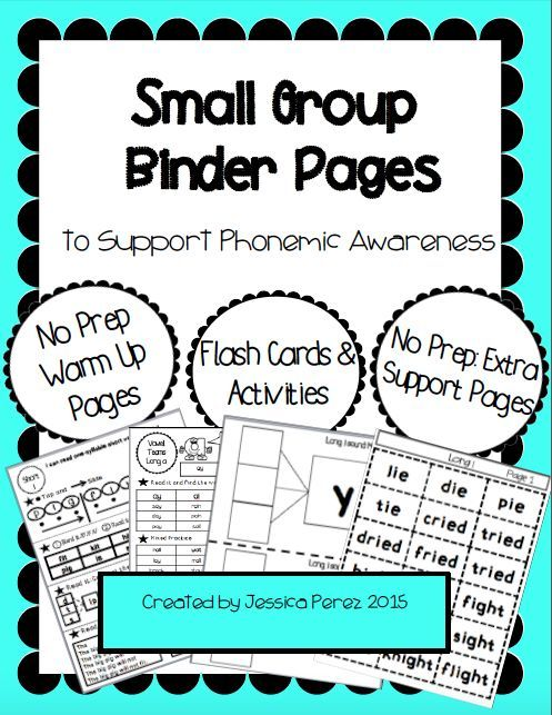 Teacher Toolbox Small Group Phonemic Awareness Support Phonemic