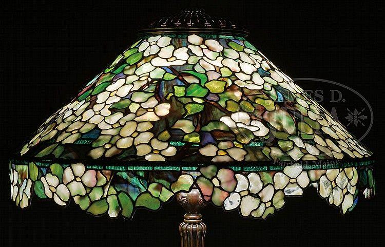 Antieke Tiffany Lampen : Tiffany studios dogwood floor lamp tiffany tiffany lamps