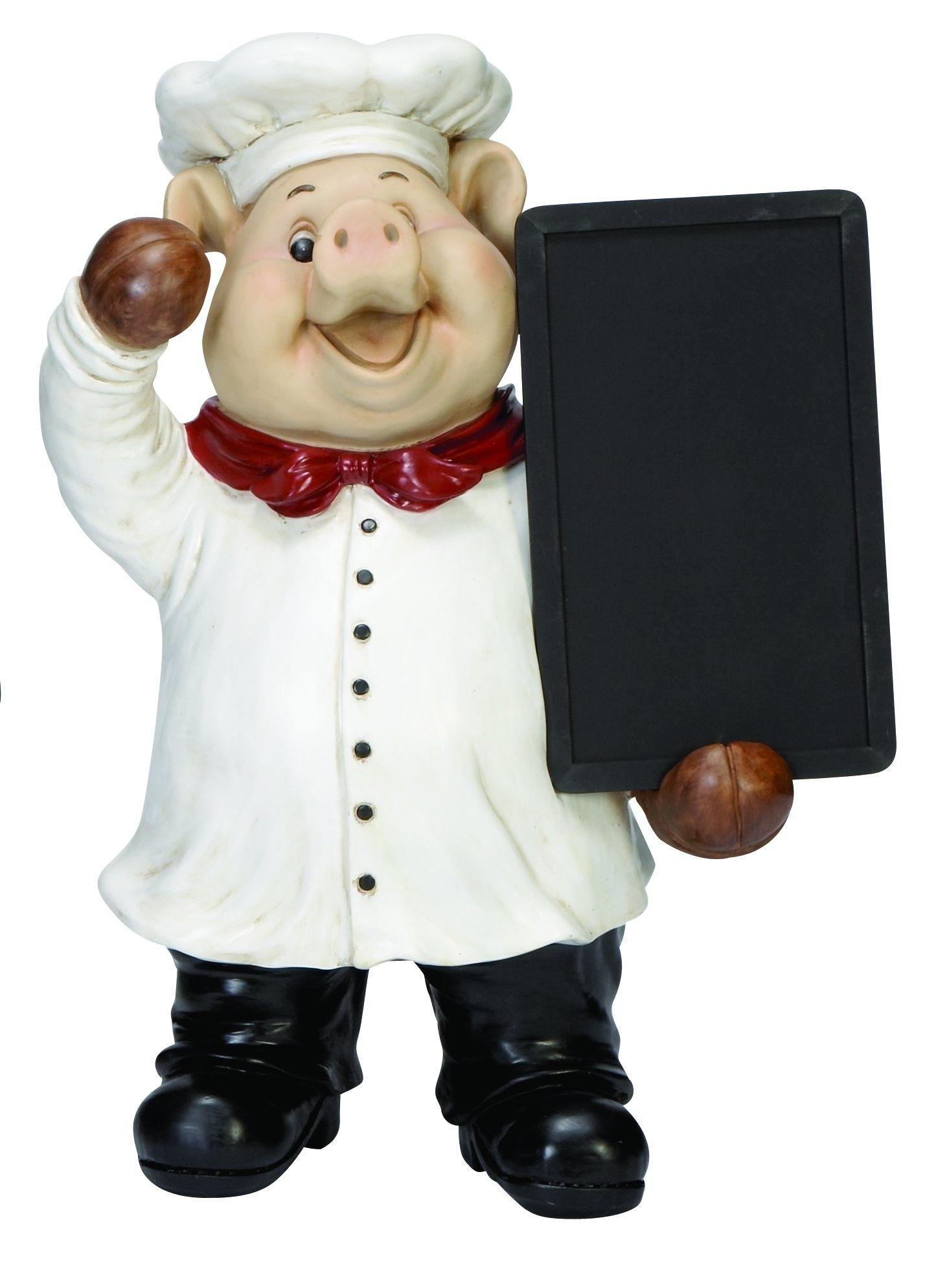 Pig Chef Figurine Chalkboard With