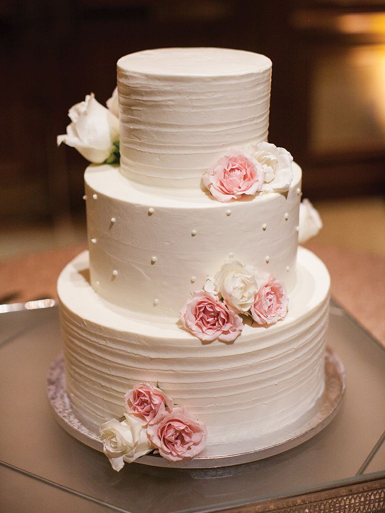 27 Simple Wedding Cakes That Prove Less Really Can Be More Simple Wedding Cake Pink Wedding Cake Buttercream Wedding Cake