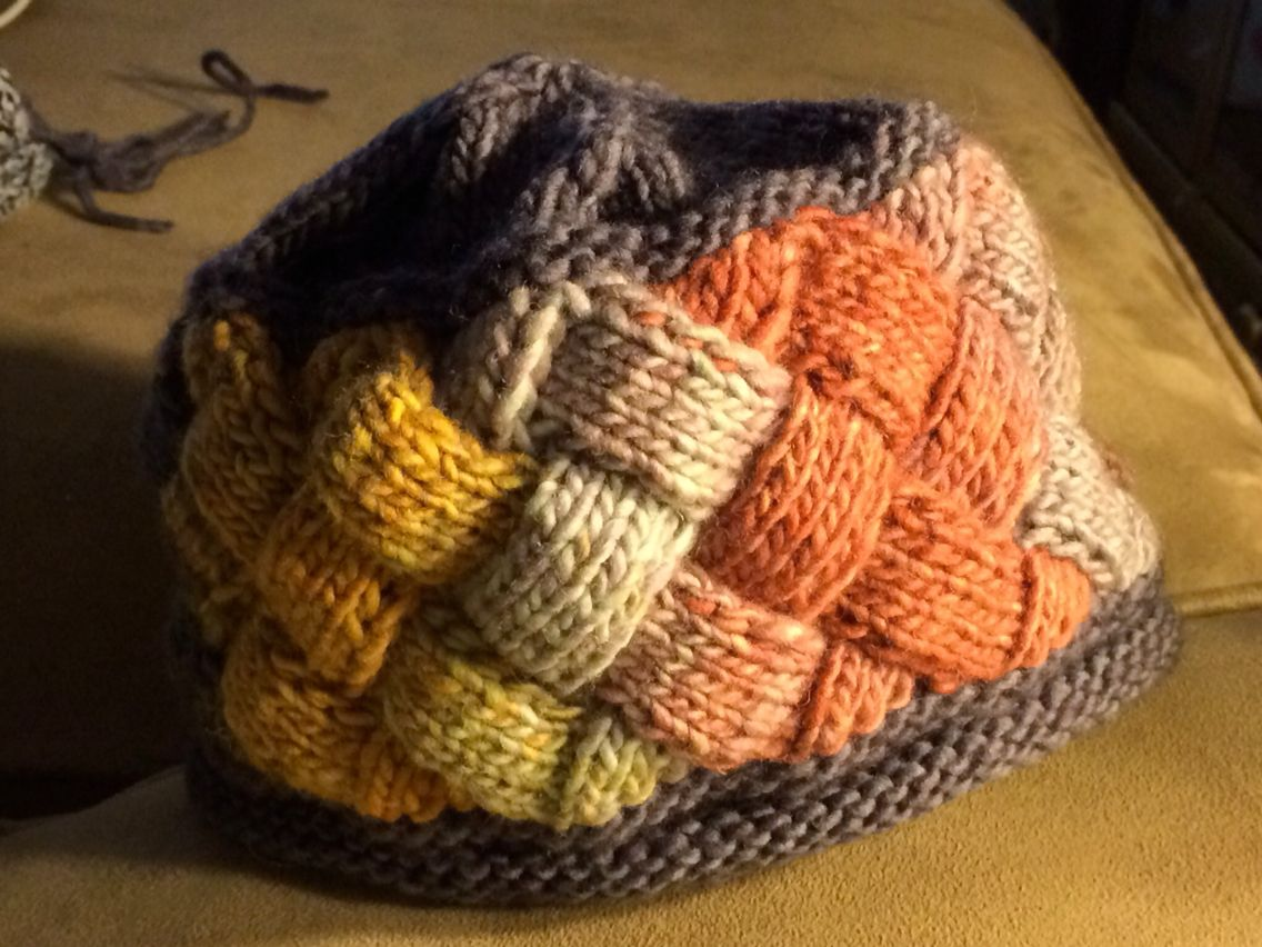 Hat for a friend. Yarn and pattern from KnitWhits.