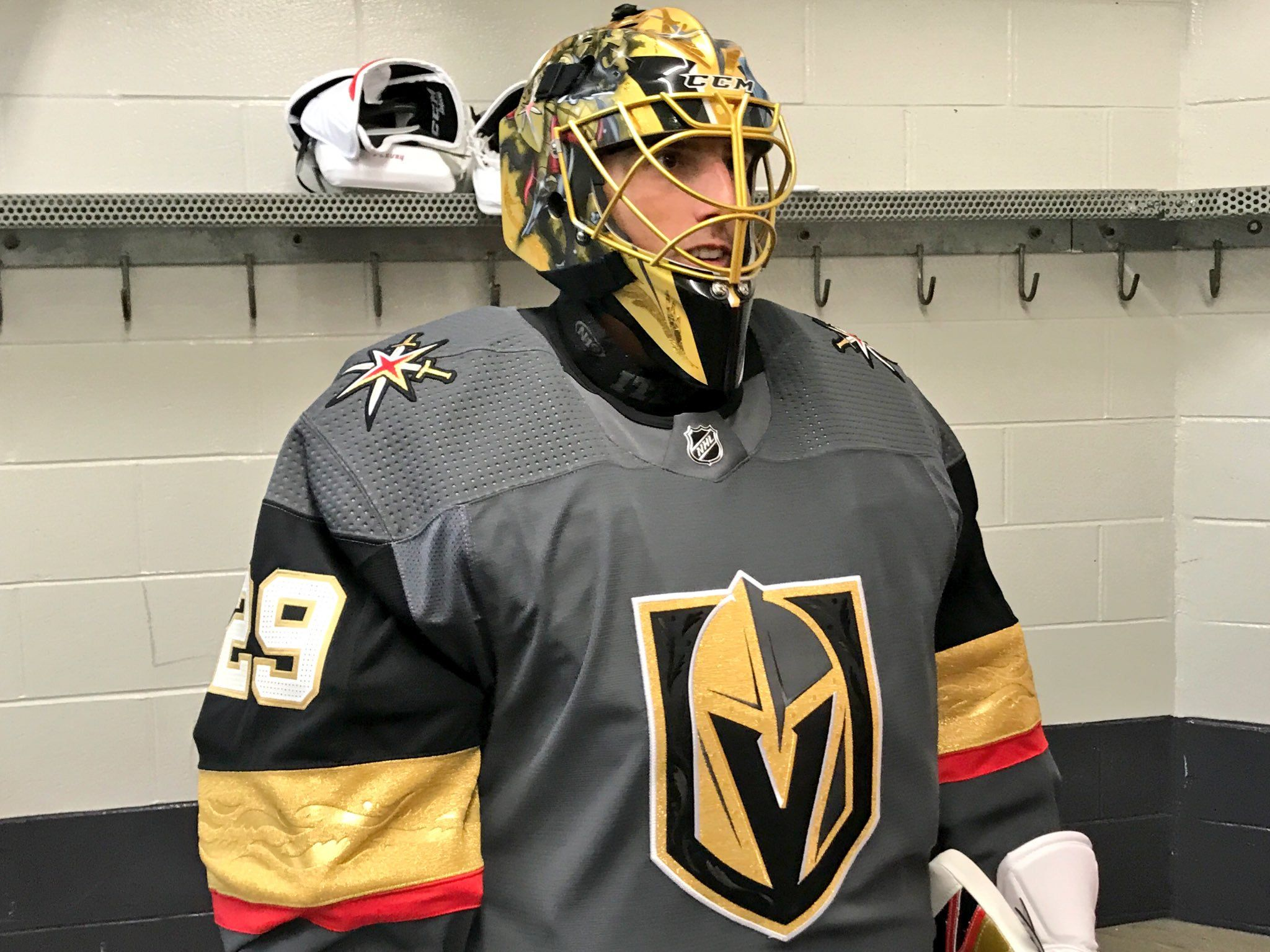 the latest 44f6b 3ef35 Fleury's new mask for Vegas | Fleury! Fleury! | Golden ...