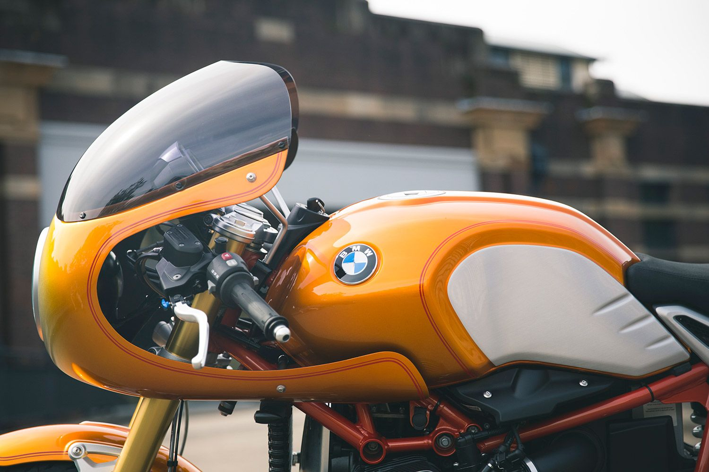 bike biz bmw rninet cafe racer r90 bmw motorrad orange | bmw r