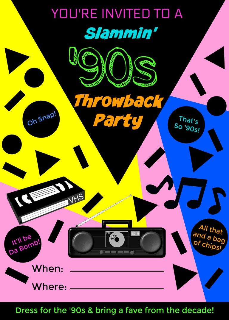 How To Throw The Perfect 90s Throwback Party Thr0wback