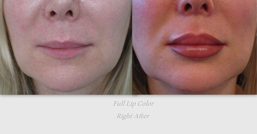 lips permanent makeup before after photo lip pinterest
