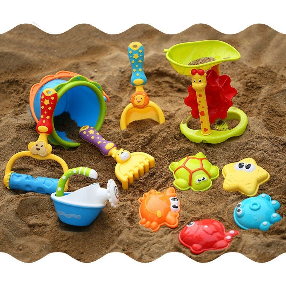 Watering Can Cloud with Mesh Backpack Sandbox Biulotter 20Pcs Kids Beach Sand Toys Set Sand Water Wheel Truck Bucket Castle Molds Sea Animal Molds Hourglass Beach Shovels RakesTool Kit