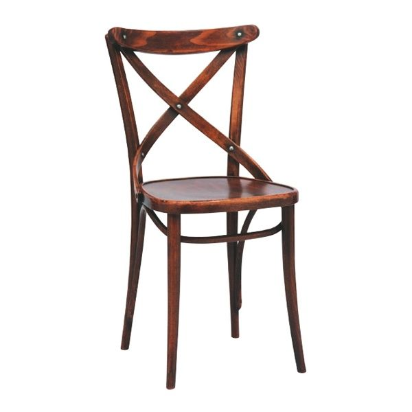 150 Rustic Dark Wood Chair   From Ultimate Contract UK