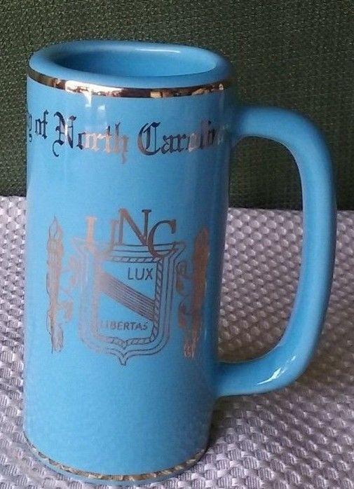 "Vintage University OF North Carolina Stein W.C. Bunting Co.  5.5"" x 2"" Free Ship"