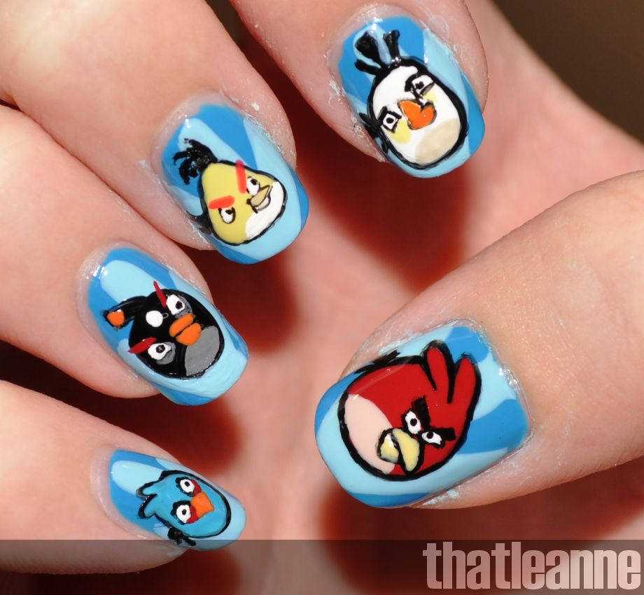 thatleanne: Angry Birds Nail Art feat. the birds! | Nails ...