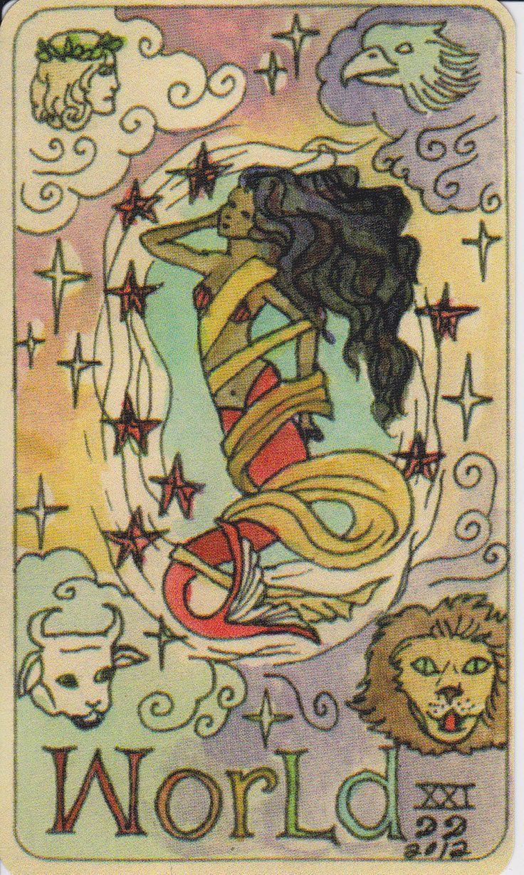 Dame darcy mermaid tarot the world major arcana tarot