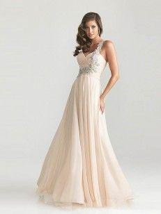 A-line/Princess One Shoulder Hjärtformad Bärlbroderi Volanger Floor-length Prom Dress