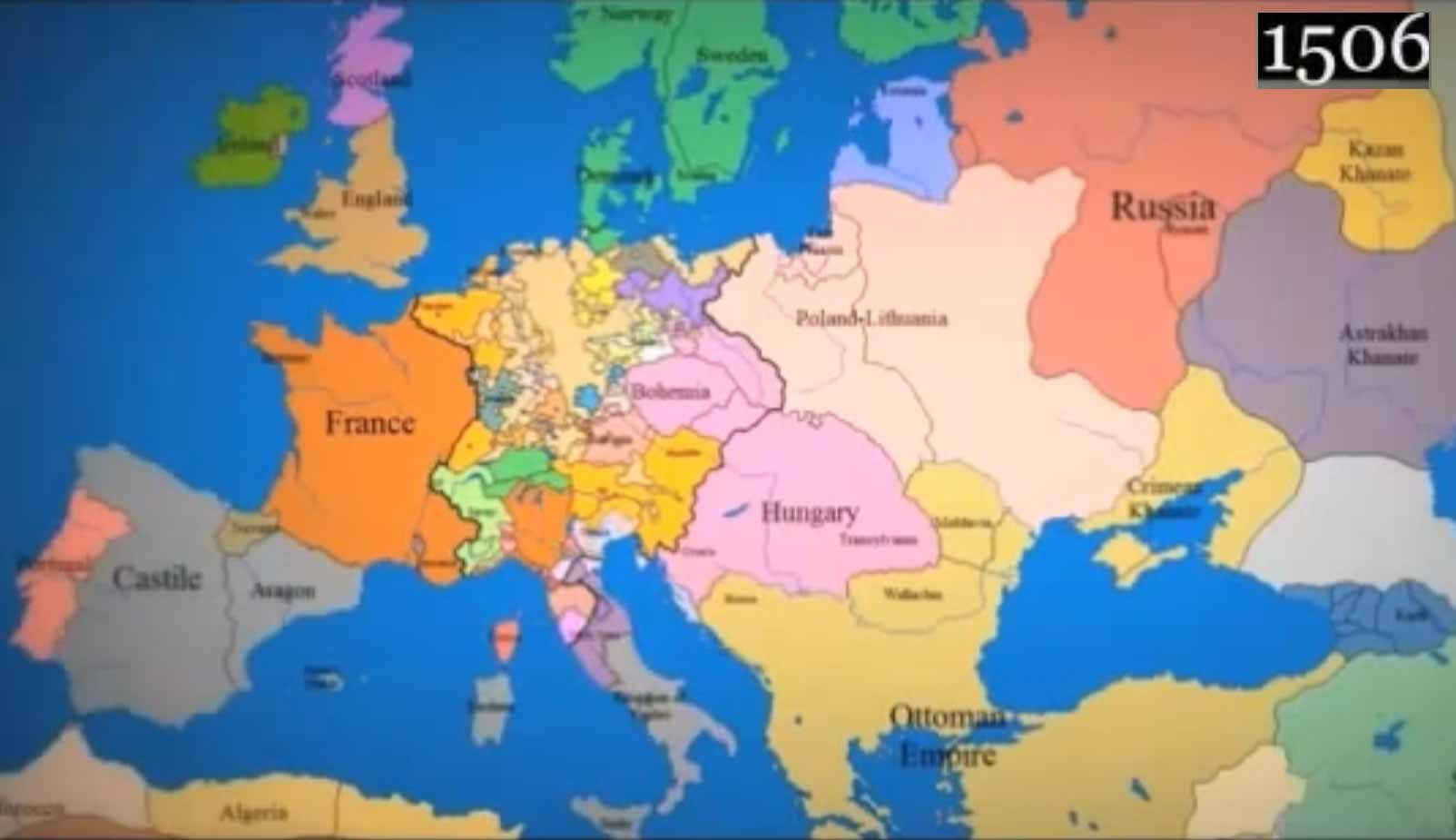 Map Of Europe 1000 Ad To Present Day Interesting Places