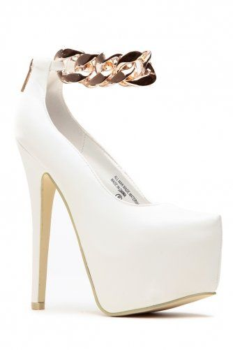 white gold prom dress on Wanelo White And Gold Heels ecfb32c80759