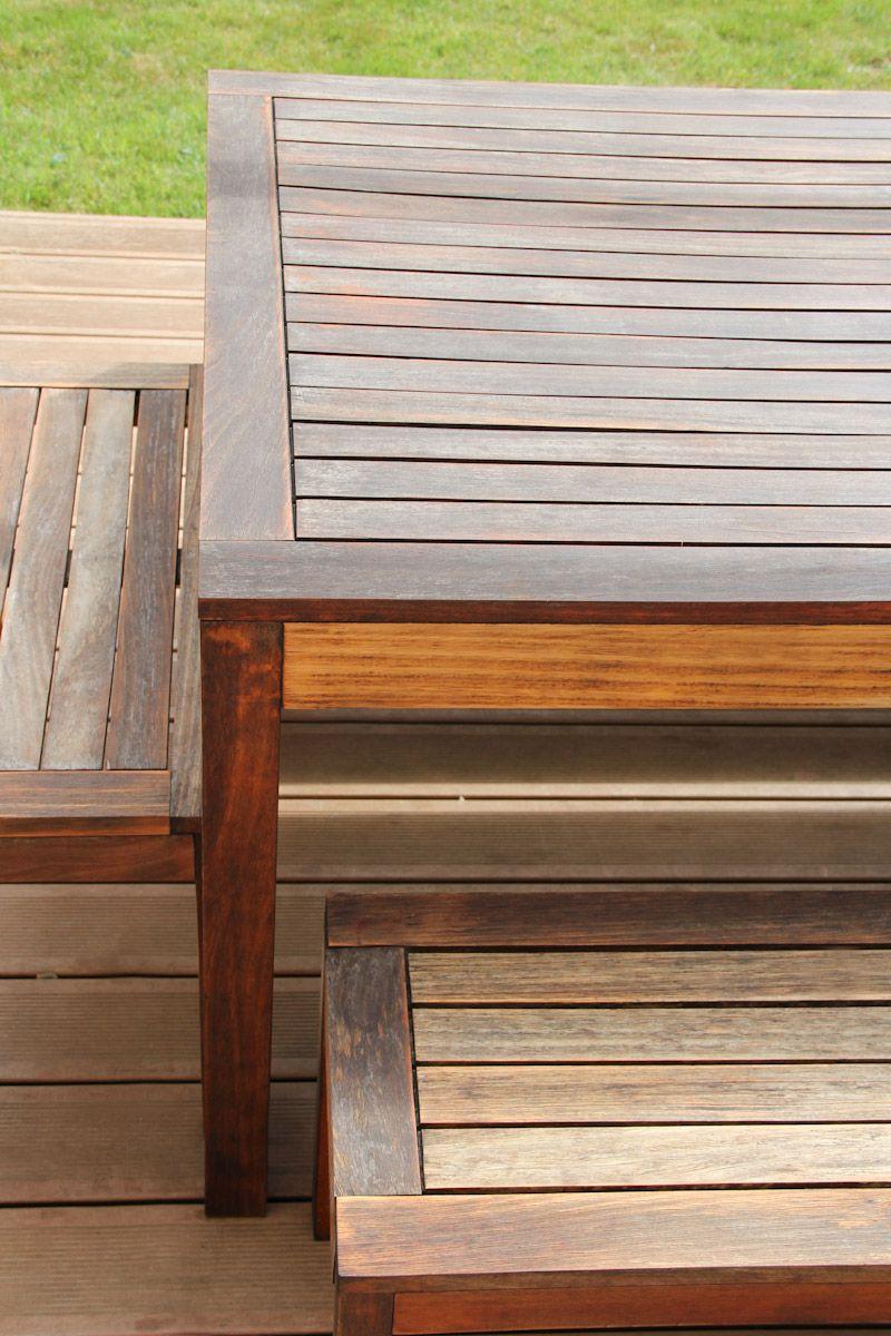 Percarbonate De Sodium Pour Terrasse Bois rénover une table de jardin en bois | table de jardin bois