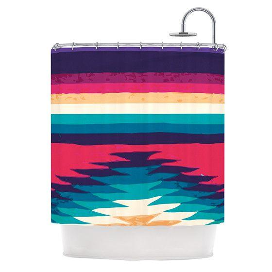 "Nika Martinez ""Surf"" Shower Curtain - Outlet Item"