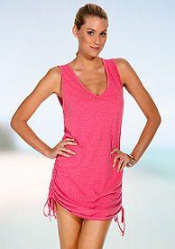 7430a1514e Eco Swim Side Shirred Dress | swimsuits | Shirred dress, Pink ...