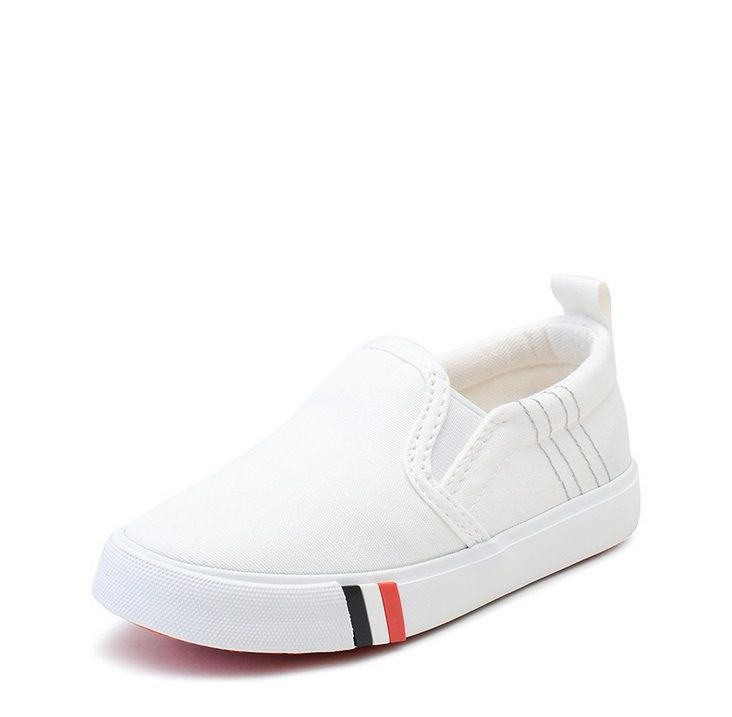 2017 Spring children s shoes fashion student Plate shoes boy girl Soft  bottom white canvas casual shoes d779843a12c
