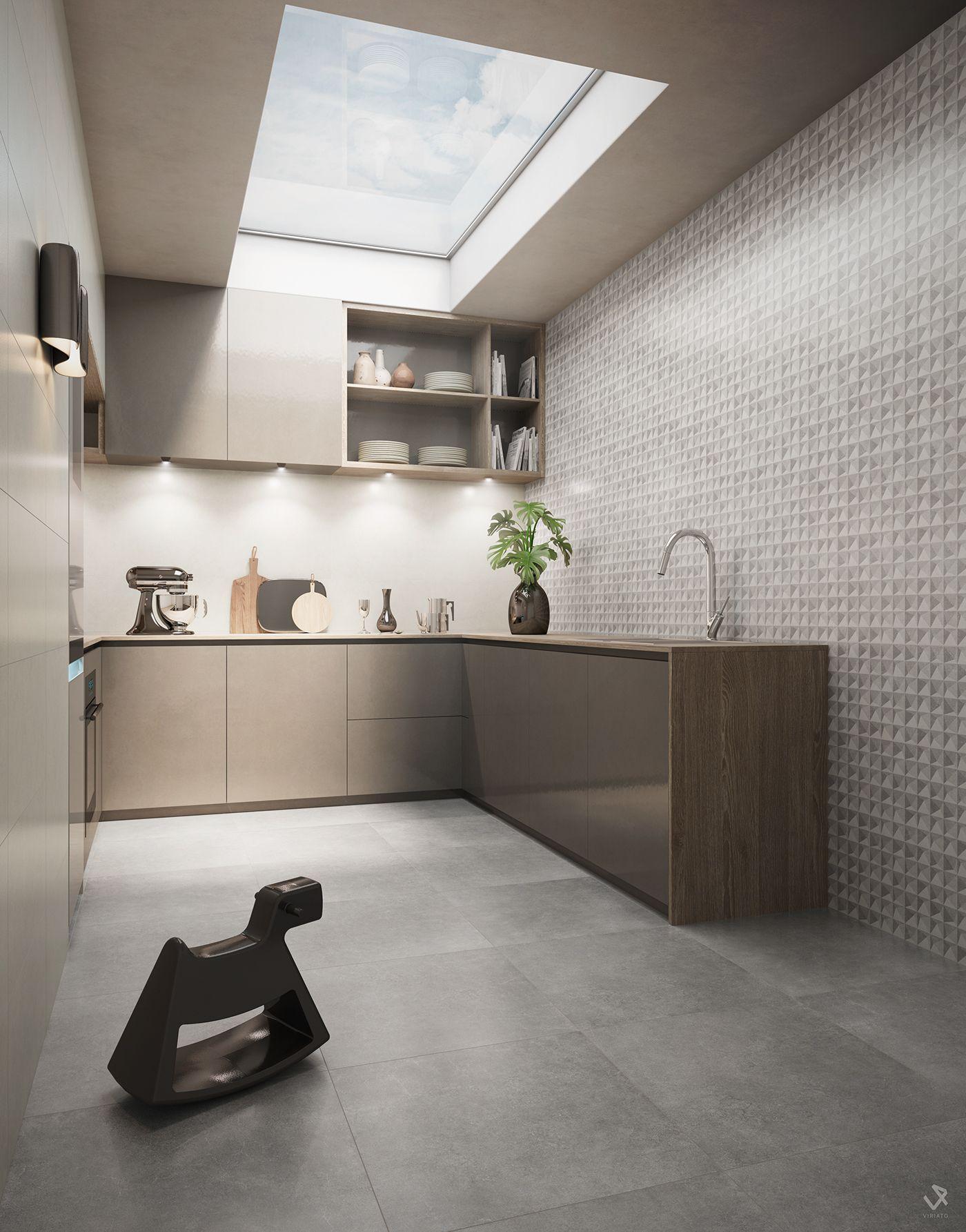 Revigrés - News\'16 Ceramic Tiles on Behance | Cozinhas | Pinterest