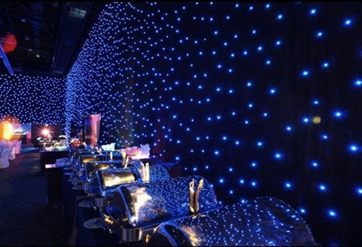 LED Guirlandes cascade 6m x 3m 800leds lumière rideaux lampe ...