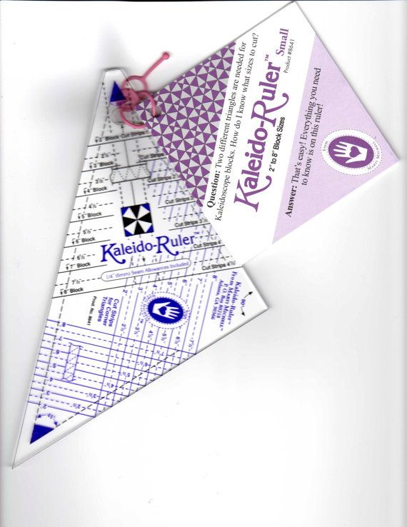 Small KALEIDOSCOPE RULER for 28 Block sizes with by donellefritz, $13.43