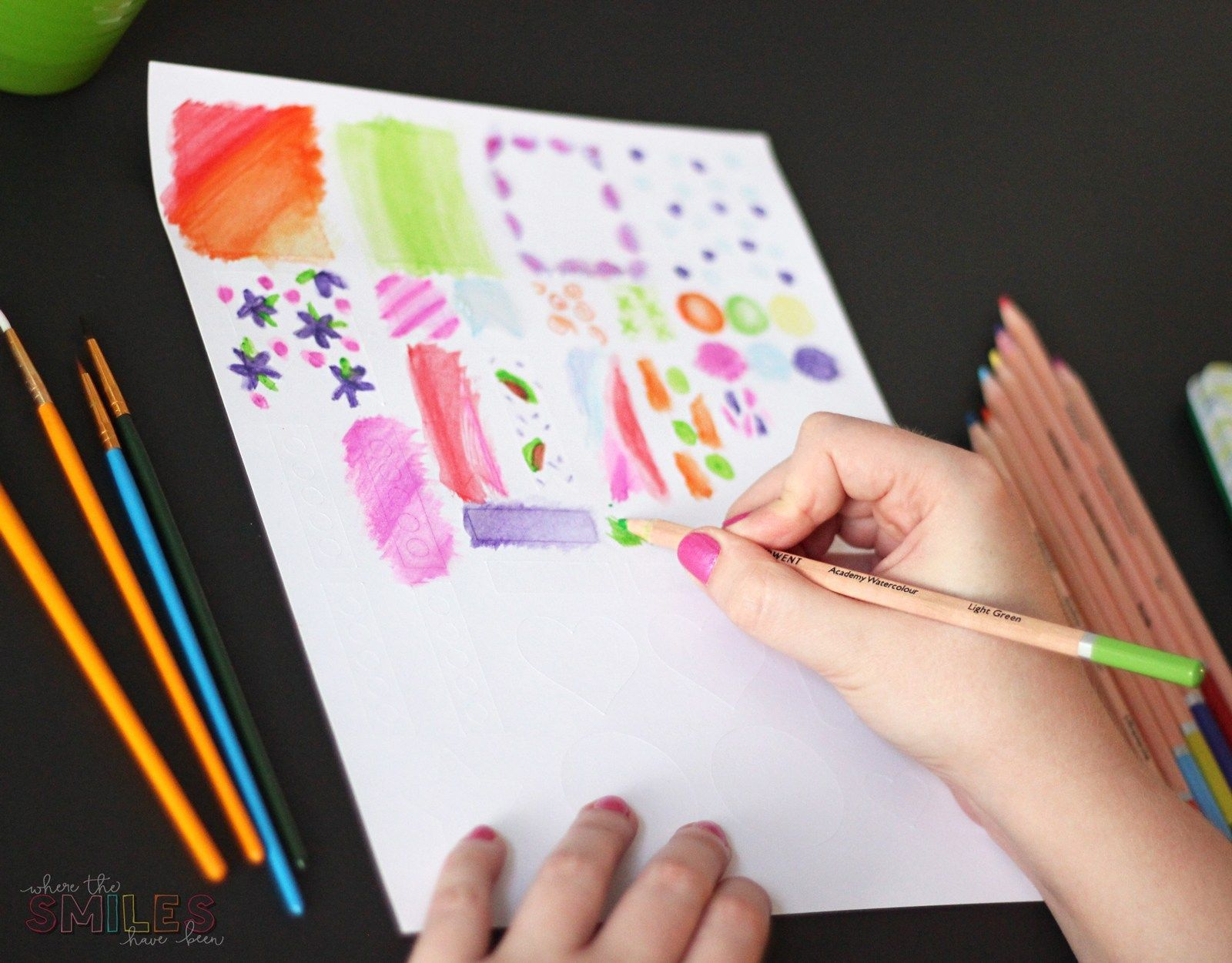 How To Make Watercolor Planner Stickers Using Watercolor Pencils
