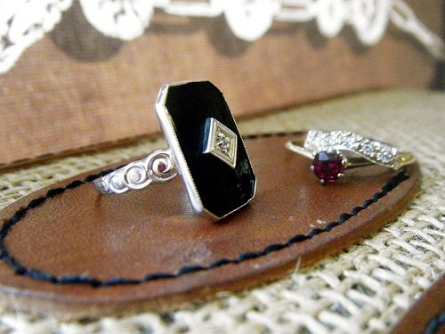 Gem Gossip found beautiful rings while antiquing.