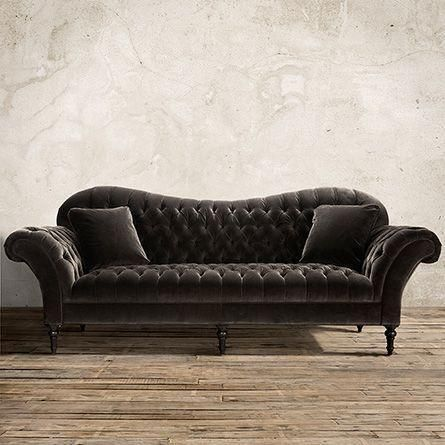 Cannes Charcoal Arhaus Upholstered Sofa
