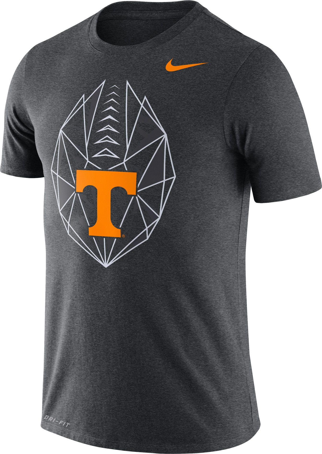 48c2ba2bb Nike Men's Tennessee Volunteers Grey Dri-FIT Football Icon T-Shirt, Team
