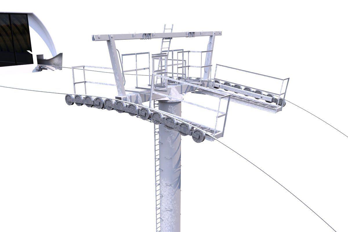 Ski Lift Cableway Car Ski Lift Car Skiing