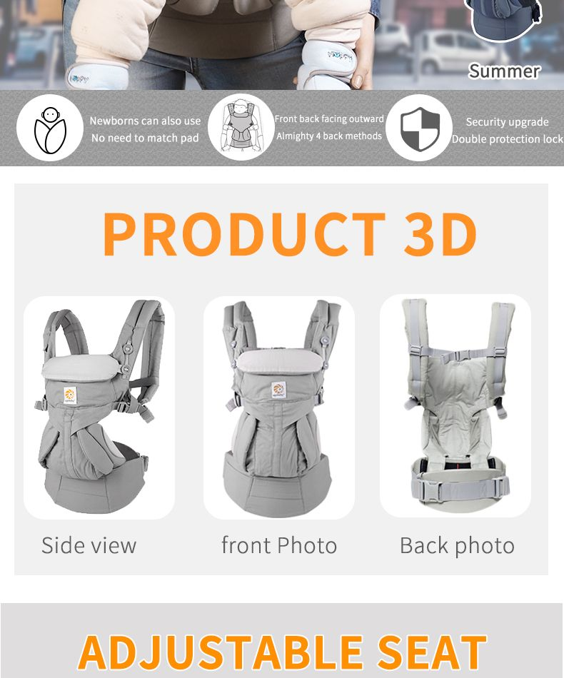 omni 360 Ergonomic Baby Carrier Multifunction Breathable Infant Newborn Carrier