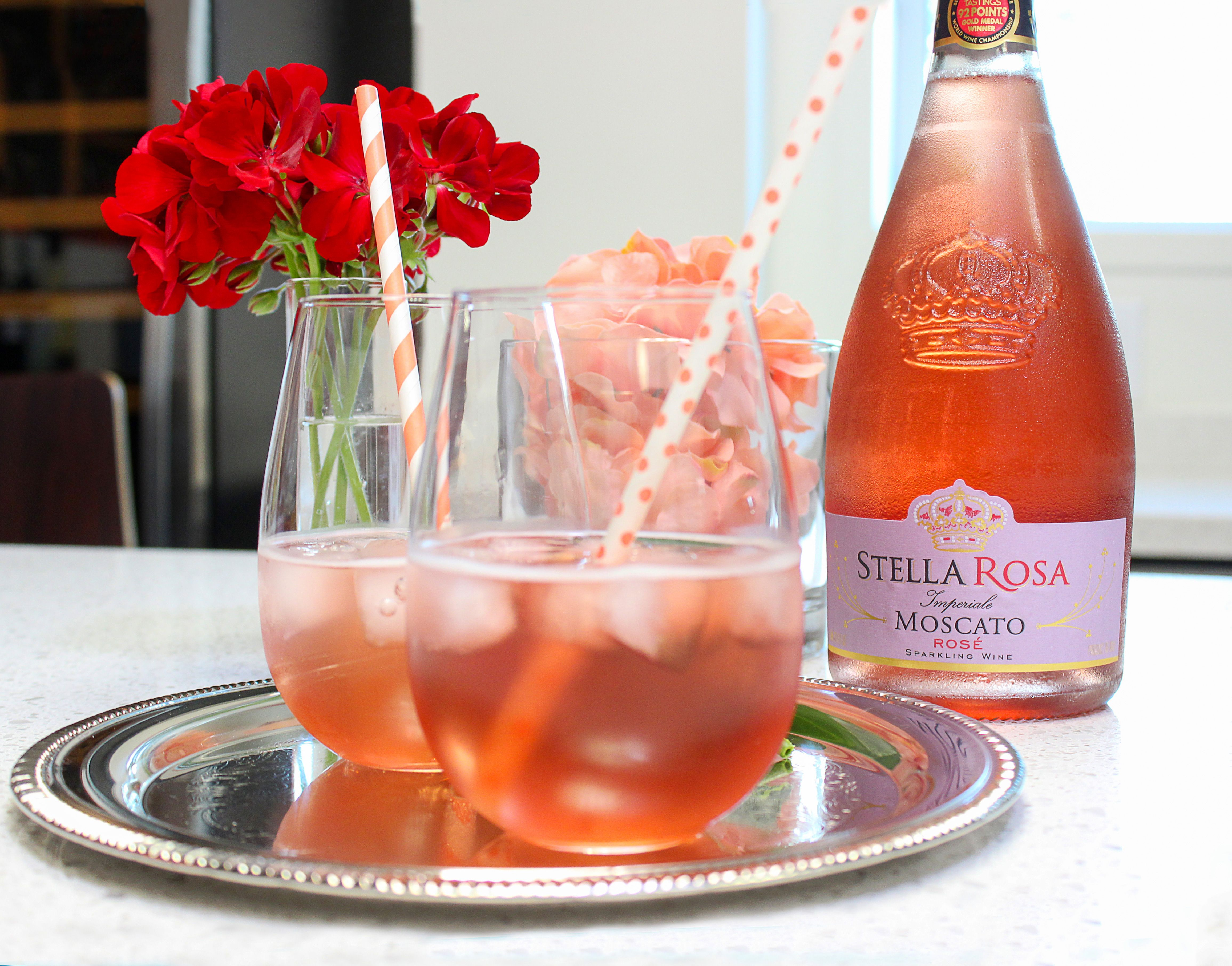 Moscato Rose Spritzer Sweet Wine Drinks Moscato Moscato Drinks