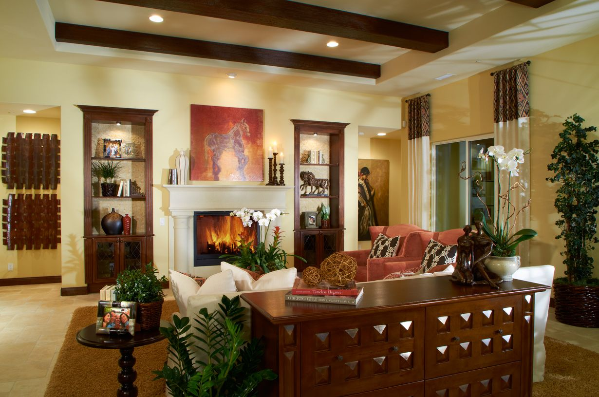 Toll Brothers - Relax in the Amalfi family room.