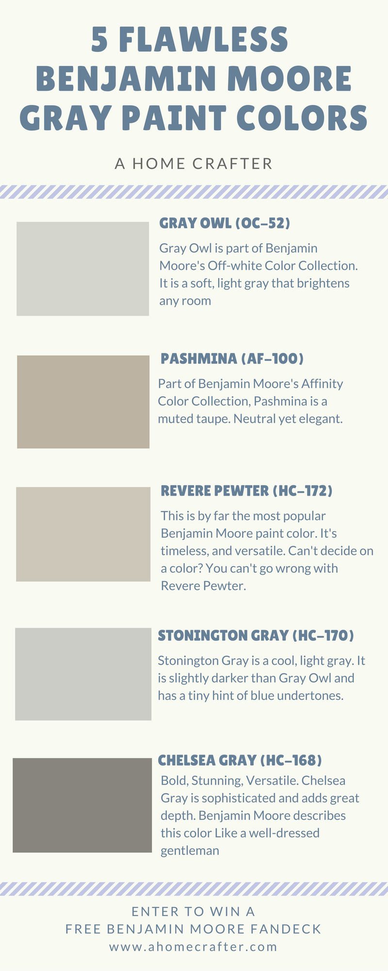 I Personally Love These 5 Benjamin Moore Gray Paint Colors They Are Soft Versatile And Timeless