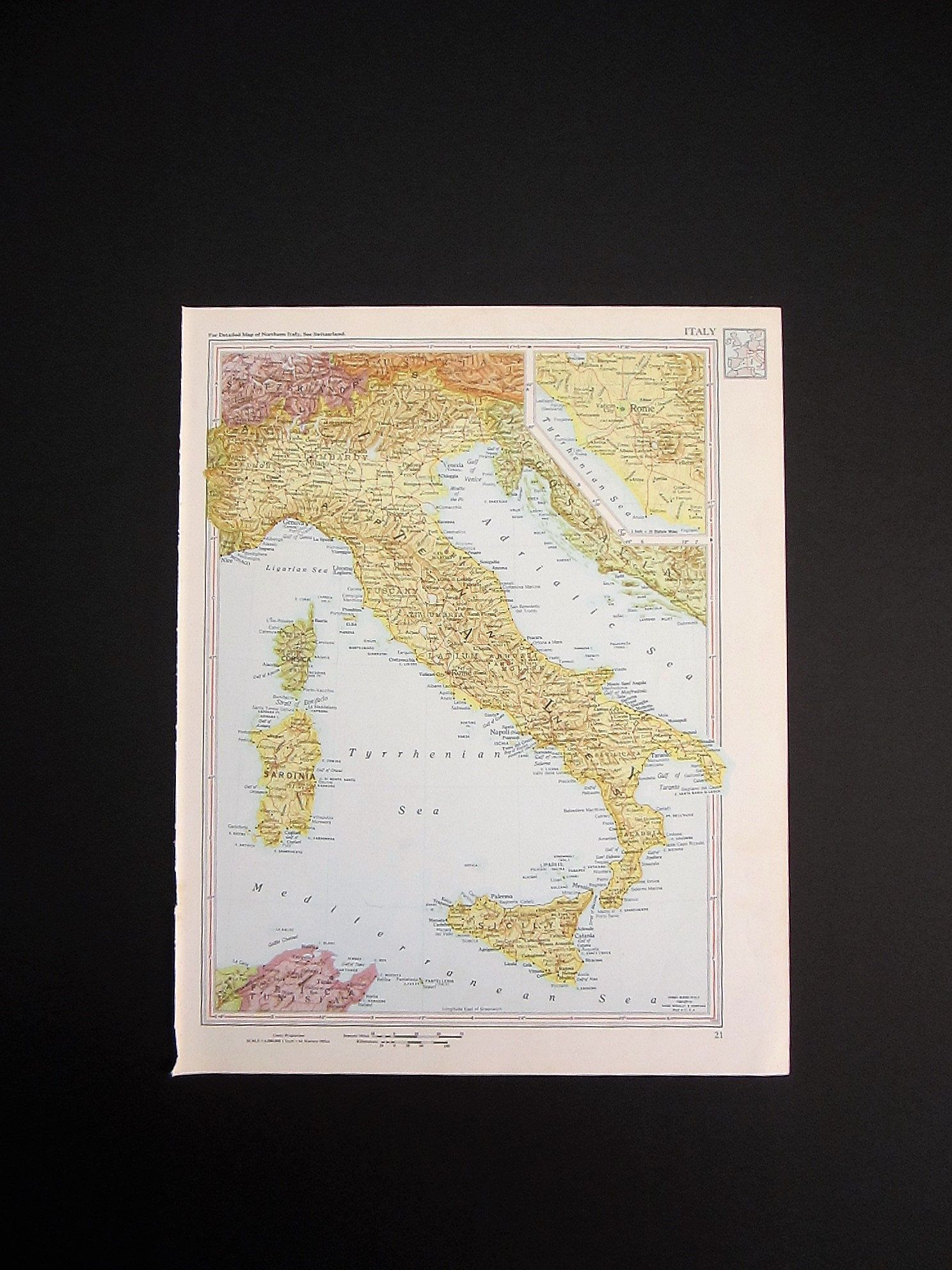 1960 map of italy vintage map wall art italy wall art vintage 1960 map of italy vintage map wall art italy wall art vintage atlas gumiabroncs Choice Image