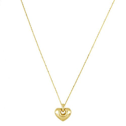 14k heart pendant made in Italy deleuse.com
