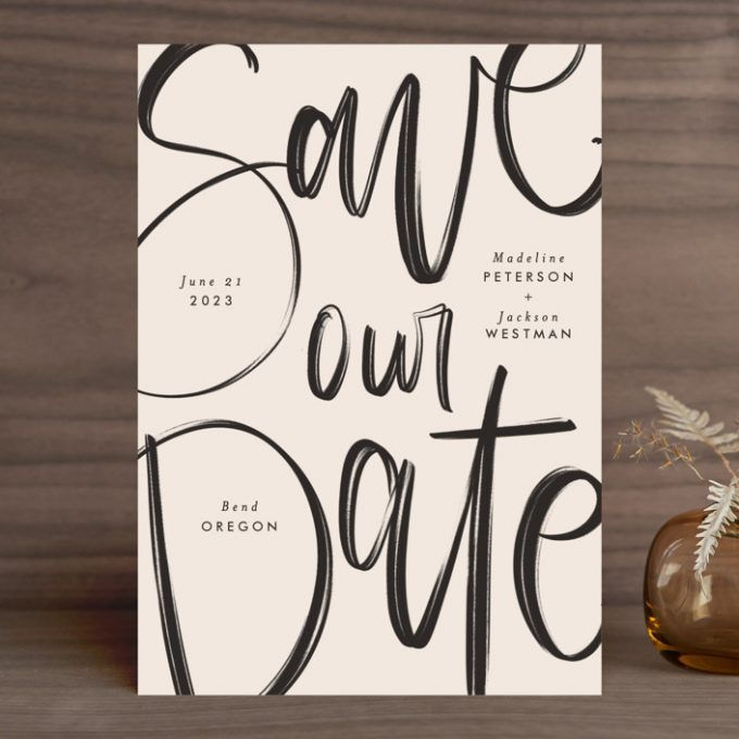 Where to Buy Non Photo Save the Date Cards   Emmaline Bride