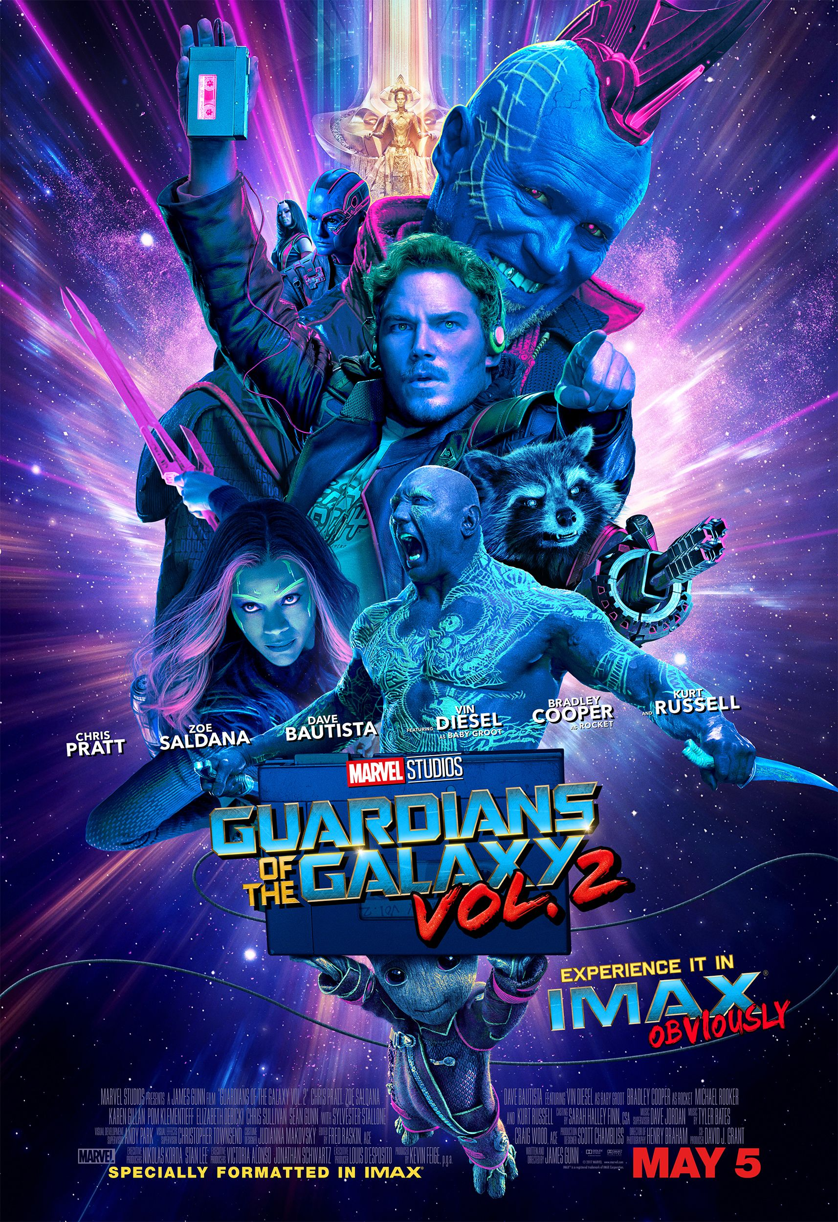 GUARDIANS OF THE GALAXY; VOL 2  Movie PHOTO Print POSTER Textless Film Art 004