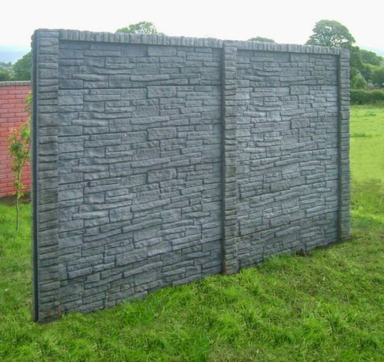 How To Use The Natural Stone Wall As Garden Fencing Panels? Decorative  Ideas For Garden