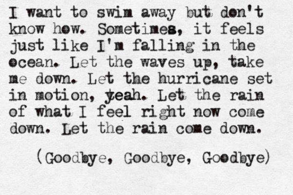 Into The Ocean Blue October Blue October Blue October Lyrics Cool Words