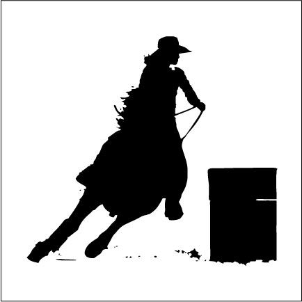 Barrel Racing Silhouette Clipart | ♥♥Quilting- Tips ...