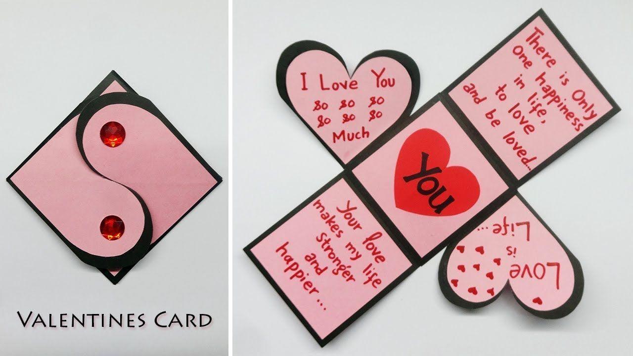 valentinstag karten  valentinskarten handgemacht einfach