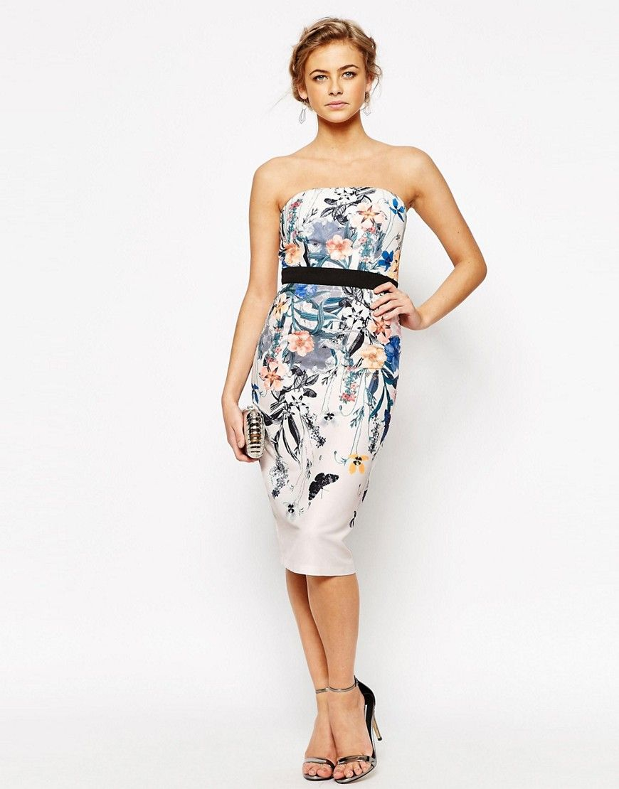 Little Mistress | Little Mistress Oversized Floral Pencil Dress
